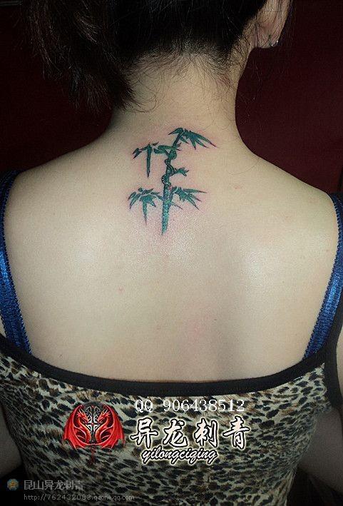 竹子纹身图案