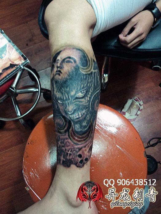佛与龙的纹身手稿内容图片分享