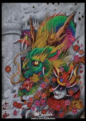 昆山异龙纹身龙纹身图案