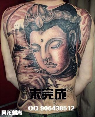 满背菩萨纹身图案