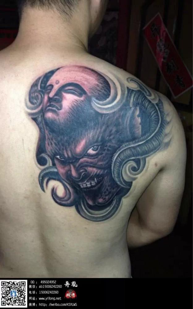 佛与魔纹身图案